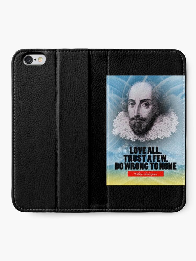 Vista alternativa de Fundas tarjetero para iPhone Cita de la inspiración de William Shakespeare