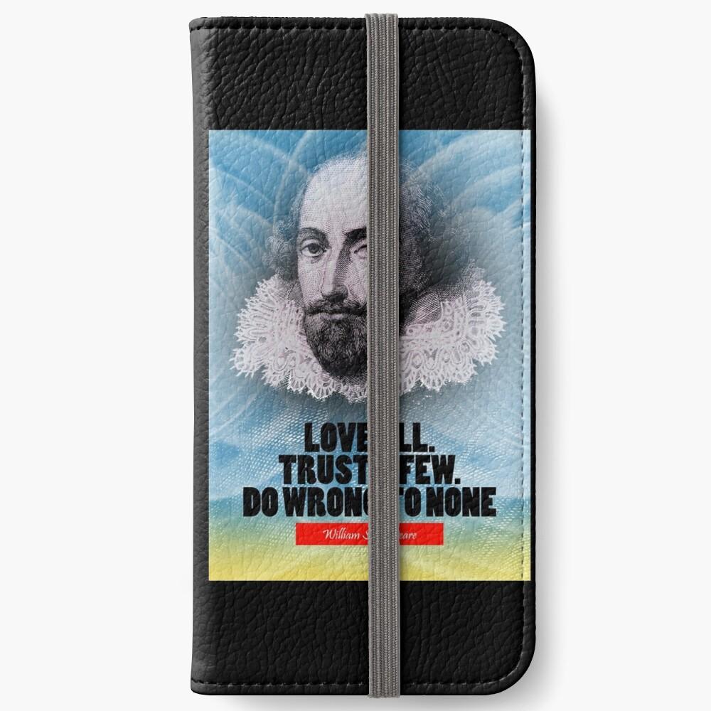 Cita de la inspiración de William Shakespeare Fundas tarjetero para iPhone
