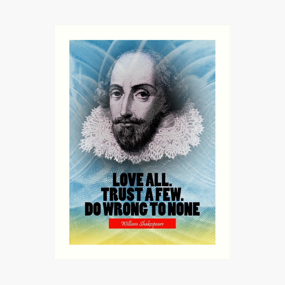 Cita de la inspiración de William Shakespeare Lámina artística