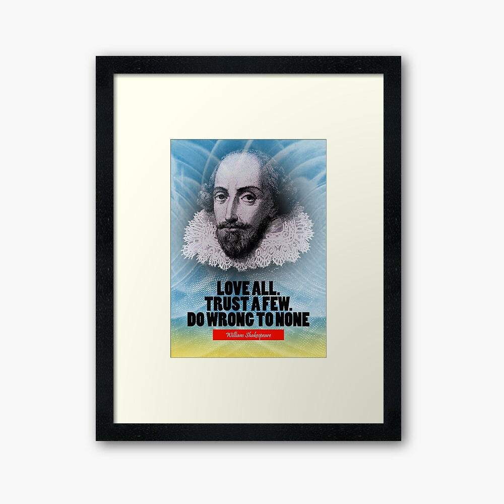 Cita de la inspiración de William Shakespeare Lámina enmarcada
