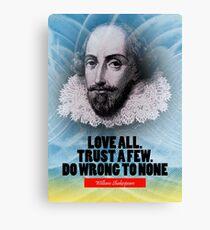 William Shakespeare Inspiration Zitat Leinwanddruck