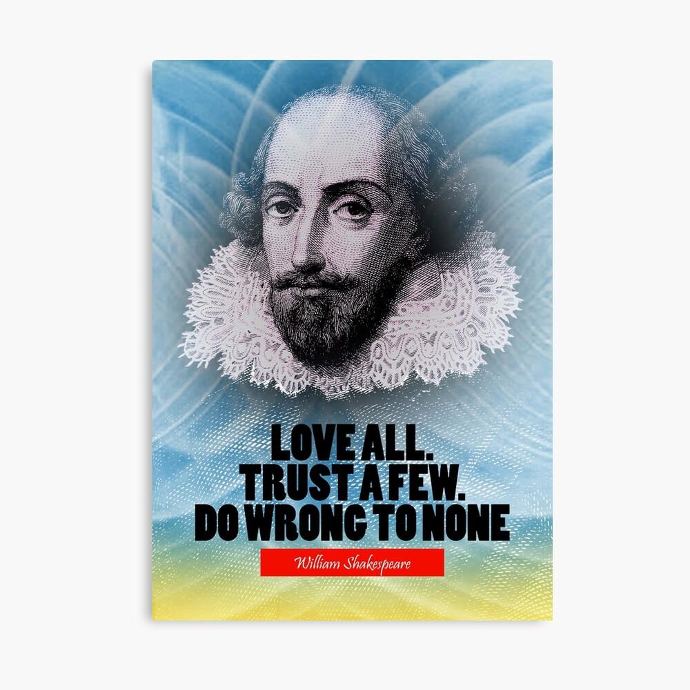 Cita de la inspiración de William Shakespeare Lienzo