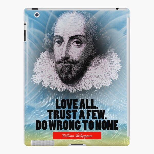 William Shakespeare Inspiration Quote iPad Snap Case