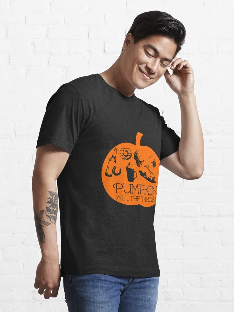 Alternate view of Autumn - Pumpkin all the things! Dark bg version Fall  Essential T-Shirt