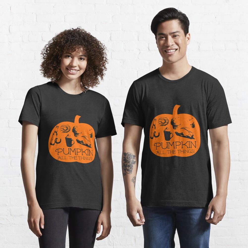 Autumn - Pumpkin all the things! Dark bg version Fall  Essential T-Shirt