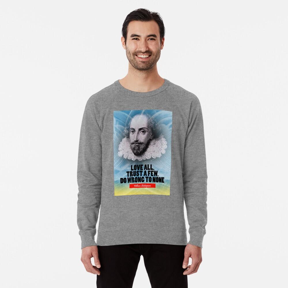 Cita de la inspiración de William Shakespeare Sudadera ligera