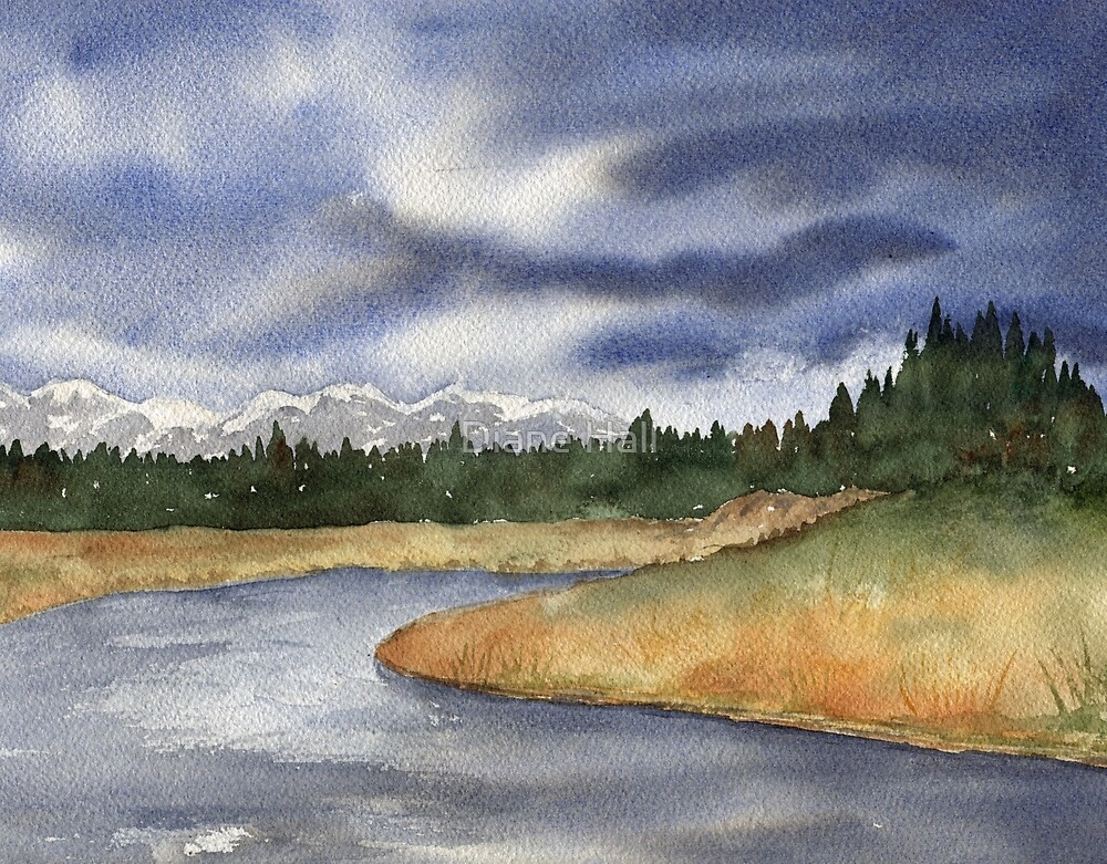 West Yellowstone- Madison River by Diane Hall