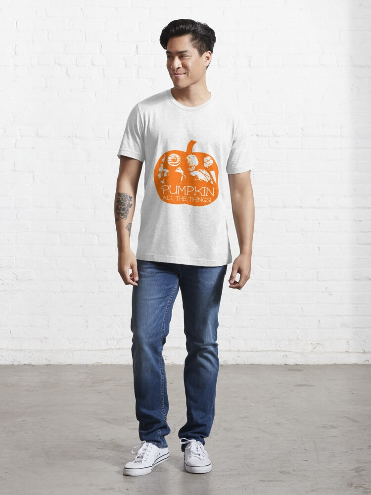 Alternate view of Autumn - Pumpkin all the things! Light bg version Fall Essential T-Shirt