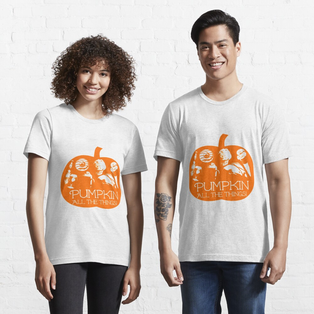 Autumn - Pumpkin all the things! Light bg version Fall Essential T-Shirt