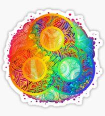 technicolor bonnaroo Sticker