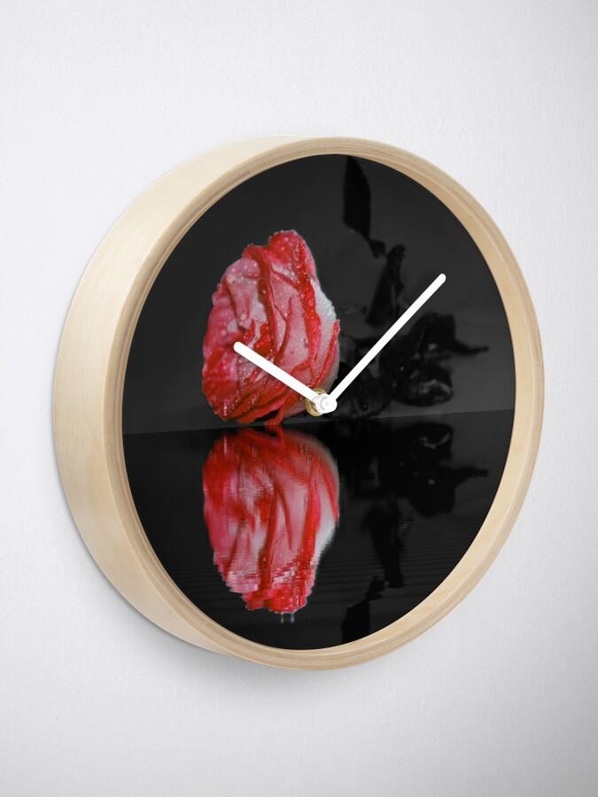 Alternate view of Red Rose Clock