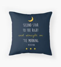 Peter Pan (Version Two) Throw Pillow