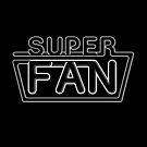 Super Fan - Neon logo (white lines) by tvcream