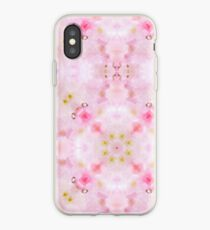 Pretty Girlie Pink Background Pattern iPhone Case