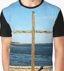 Seaside Cross Graphic T-Shirt