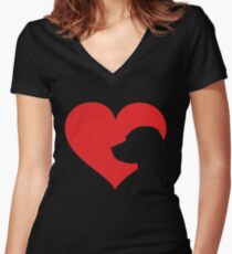 Labrador Owner Gift Lab In My Heart Women's Fitted V-Neck T-Shirt