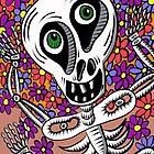 Sherman T. Skully in Flowers by Judy Boyle