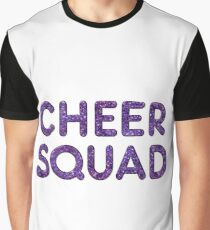 Cheerleader Cheer Squad Team T Shirt Glitter Text Look Graphic T-Shirt