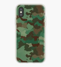 Army Camouflage Textile Pattern iPhone Case
