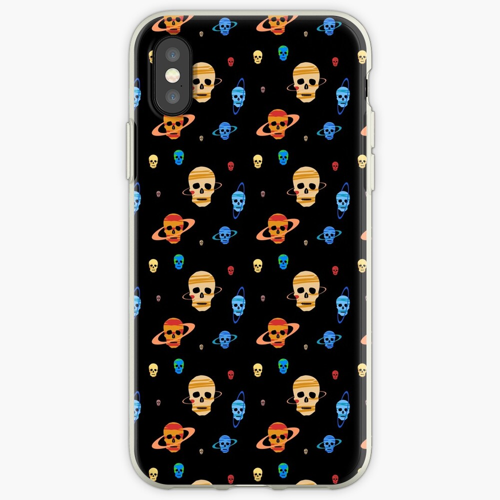 Skull Planets pattern iPhone Case & Cover
