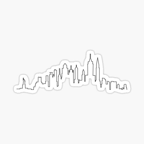 Skyline de la ciudad de Nueva York Pegatina