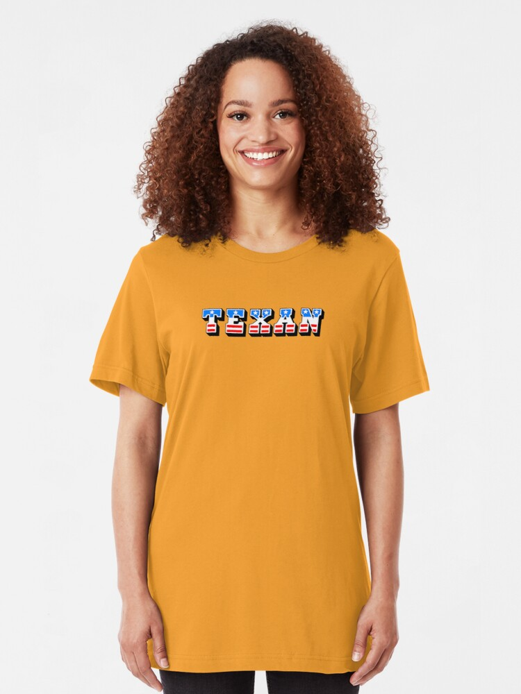 Alternate view of Texan: the mighty chew Slim Fit T-Shirt