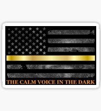 Dispatcher Gifts - Thin Gold Line - Thin Yellow Line - 911 Emergency Dispatchers Sticker