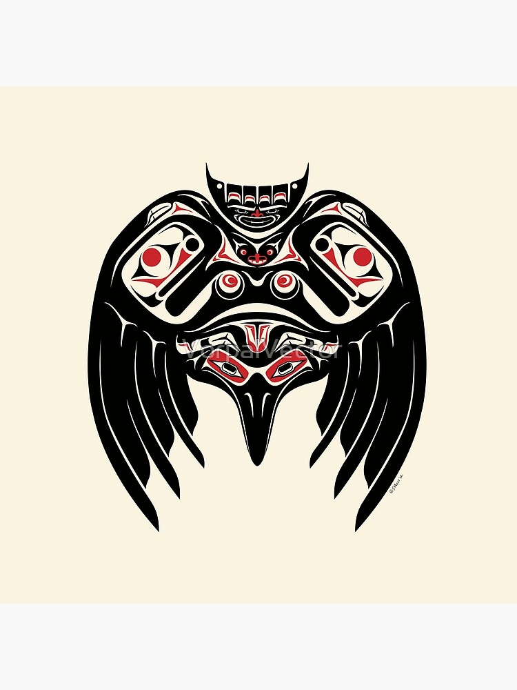 Raven Crow in a Pacific North West Style, Native American Style by VorpalVector
