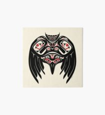 Raven Crow in a Pacific North West Style, Native American Style Art Board