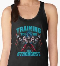 Training to be strongest gym super blue  Women's Tank Top