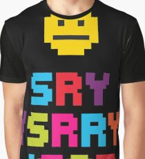 Sry/Srry/Soz (All over) - Pixel Dash Gamer Graphic T-Shirt