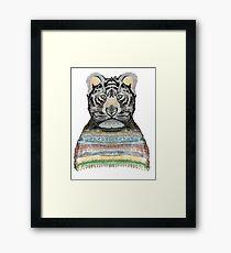 Tiger Knit Framed Print