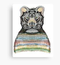 Tiger Knit Canvas Print