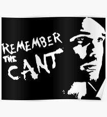 remember the cant (white) Poster