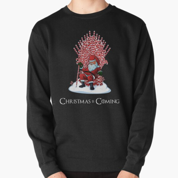 Christmas Is Coming Santa Candy Cane Throne T-Shirt Pullover Sweatshirt