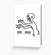 Grr Argh, Monster, Buffy the Vampire Slayer, Mutant Enemy, 90s, BTVS, Zombie, Joss Whedon, Angel, Buffering, Pop Culture, Zombie Greeting Card