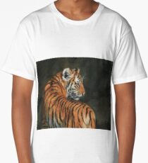 Tiger. In The Shadows of The Night Long T-Shirt