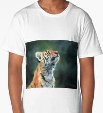 Young Tiger Looking Up Long T-Shirt