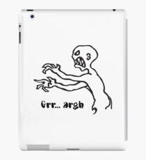 Grr Argh Monster, Buffy the Vampire Slayer, Mutant Enemy, 90s, BTVS, Zombie variation iPad Case/Skin