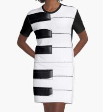 PIANO KEYS Graphic T-Shirt Dress