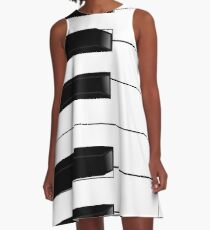 PIANO KEYS A-Line Dress