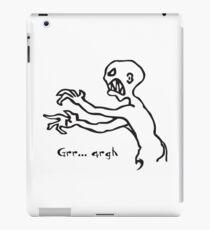 Grr Argh Monster, Buffy the Vampire Slayer, Mutant Enemy, 90s, BTVS, Zombie variation 2 iPad Case/Skin