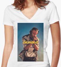 Frank Ocean Blonded Blonde Women's Fitted V-Neck T-Shirt