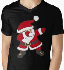 Dabbing Santa Men's V-Neck T-Shirt