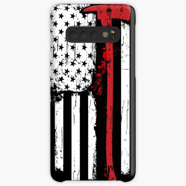 Firefighter Red Line American Flag With Fireman Axe Samsung Galaxy Snap Case