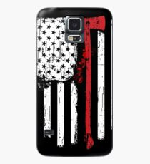 Firefighter Red Line American Flag With Fireman Axe Case/Skin for Samsung Galaxy