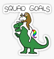 Buts de l'équipe (paresse, licorne, T-Rex) Sticker
