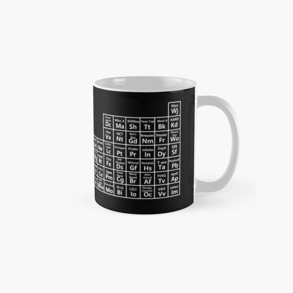 kpop periodic table (white ver) Classic Mug