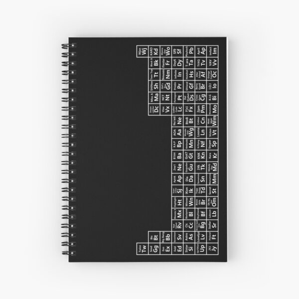 kpop periodic table (white ver) Spiral Notebook