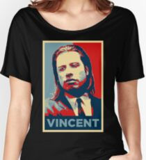 Vincent Pulp Fiction (Obama Effect) Women's Relaxed Fit T-Shirt